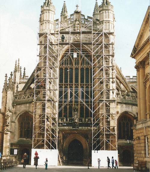 cathedral scaffolding